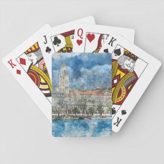 Stadt der Spalte in Kroatien Spielkarten