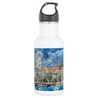 Stadt der Spalte in Kroatien Trinkflasche