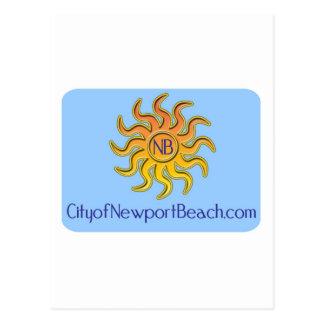 Stadt des Newport-Strand-Gangs Postkarte