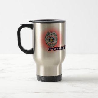 Stadt des Polizeidienststelle-Bechers Springfields Reisebecher