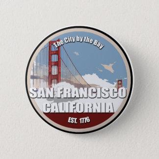 Stadt durch die Bucht, San Francisco Kalifornien Runder Button 5,7 Cm