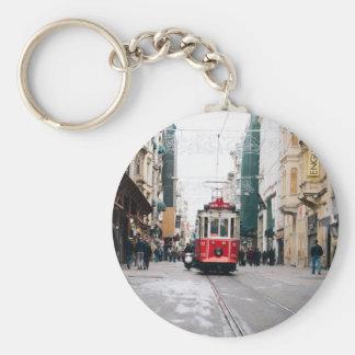 Stadt-Eisenbahnwagen Schlüsselanhänger