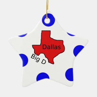 Stadt-Entwurf Dallas, Texas (großes D) Keramik Ornament