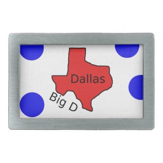 Stadt-Entwurf Dallas, Texas (großes D) Rechteckige Gürtelschnalle
