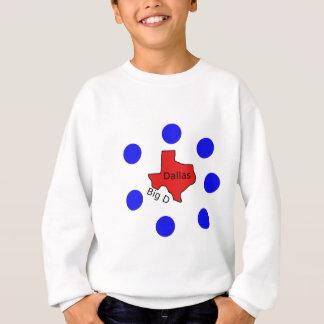 Stadt-Entwurf Dallas, Texas (großes D) Sweatshirt