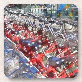 Stadt-Fahrräder in Barcelona Untersetzer