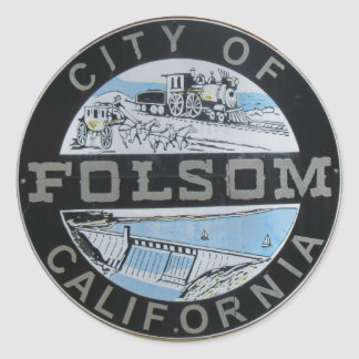 Stadt Folsom Calfornia des Stadtlogos Runder Aufkleber