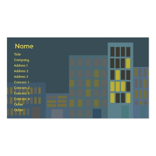 Stadt - Geschäft Visitenkarten Vorlage