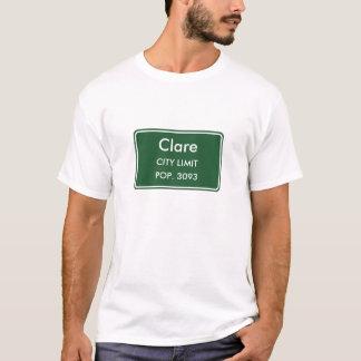 Stadt-Grenze-Zeichen Clares Michigan T-Shirt