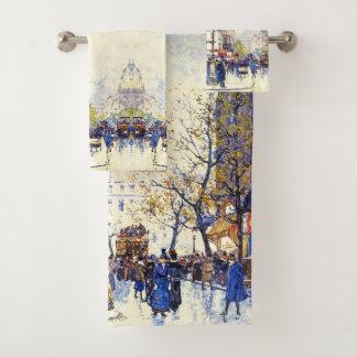 Stadt-Impressionismus-Bad-Tuch-Set Paris Badhandtuch Set