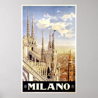 Stadt italienischen Reise-Plakats 1920 Mailands Poster