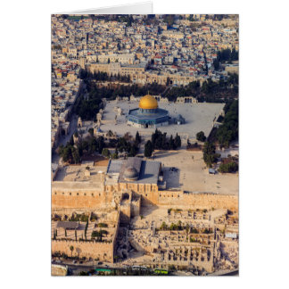 Stadt-Jerusalem-Haube des Tempelbergs alte des Karte