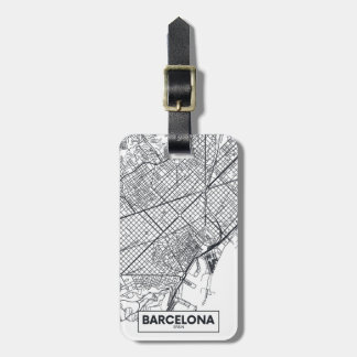 Stadt-Karte Barcelonas, Spanien | Kofferanhänger