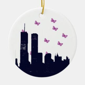 Stadt-Mädchen-Charme Keramik Ornament