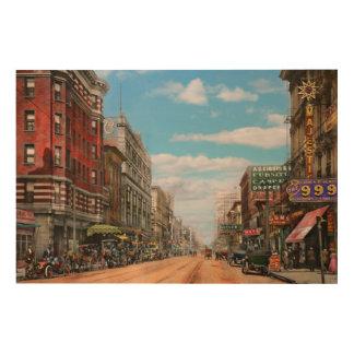 Stadt - Memphis TN - Hauptstraßen-Mall 1909 Holzleinwand