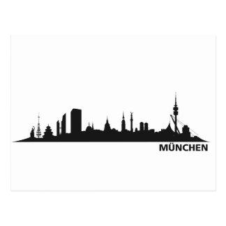 Stadt München - Skyline 1c Postkarten