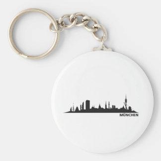 Stadt München - Skyline 1c Schlüsselanhänger