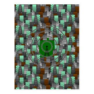 Stadt-Muster mit Radioturm Postkarte