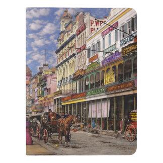 Stadt - New Orleans die viktorianische Ära 1887 Extra Großes Moleskine Notizbuch