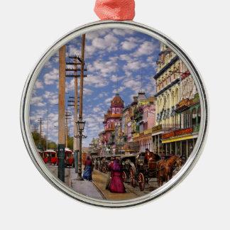 Stadt - New Orleans die viktorianische Ära 1887 Rundes Silberfarbenes Ornament