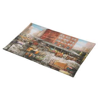 Stadt - New York NY - fest in einer Furche 1920 Tischset