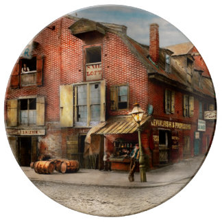 Stadt - PA - Fische u. Bestimmungen 1898 Porzellanteller