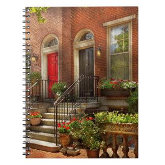 Stadt - PA Philadelphia - hübsches Philadelphia Spiral Notizblock