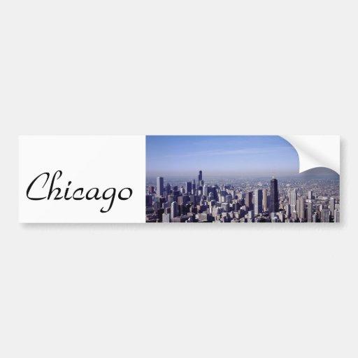 Stadt-Park-Gebäude-Schicksal Chicagos Illinois win Autoaufkleber