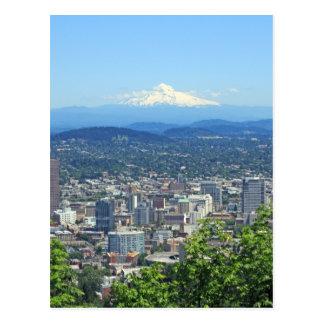 Stadt Portlands, Oregon und Mountain View Postkarte