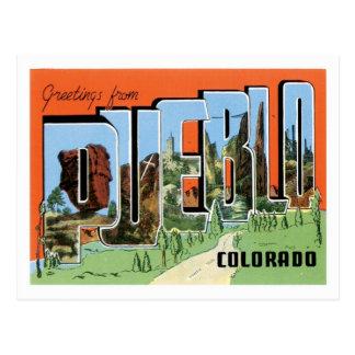 Stadt Pueblo-Colorado-Reise-Amerikas US Postkarte