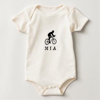Stadt-radfahrenakronym MIA Miamis Florida Baby Strampler