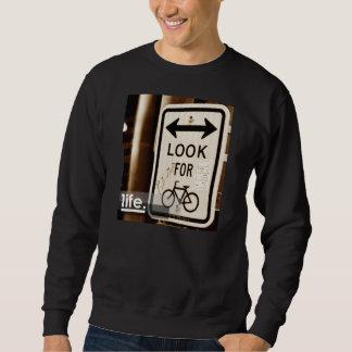 Stadt-Radfahrer-Leben Sweatshirt