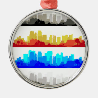 Stadt-Rand Silbernes Ornament