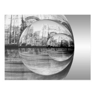 Stadt-Reflexionen Postkarte