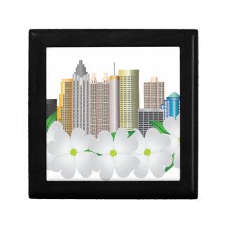 Stadt-Skyline Atlantas Georgia mit Hartriegel Geschenkbox