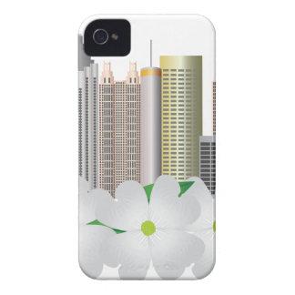 Stadt-Skyline Atlantas Georgia mit Hartriegel iPhone 4 Cover