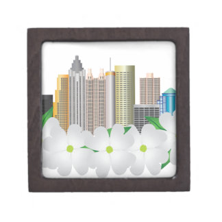 Stadt-Skyline Atlantas Georgia mit Hartriegel Schmuckkiste