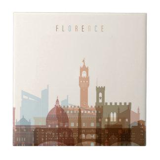 Stadt-Skyline Florenz, Italien | Fliese