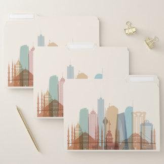 Stadt-Skyline Istanbuls, die Türkei | Papiermappe