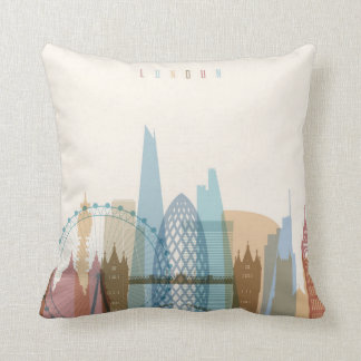 Stadt-Skyline Londons, England | Kissen