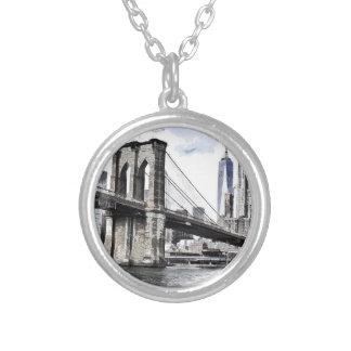 Stadt-Skyline-Skyline-Stadt-Stadtbild USA Versilberte Kette