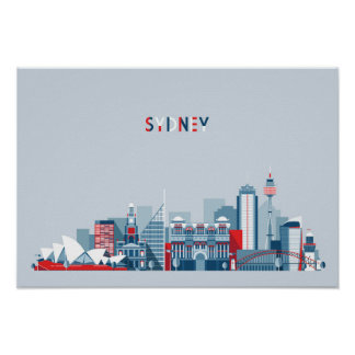 Stadt-Skyline Sydneys Australien Poster