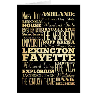 Stadt-Staats-Typografie Lexingtons Fayette Kentucy Karte