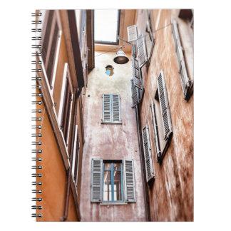 Stadt-Szene des Italiener-IMG_1785 2 Spiral Notizblock