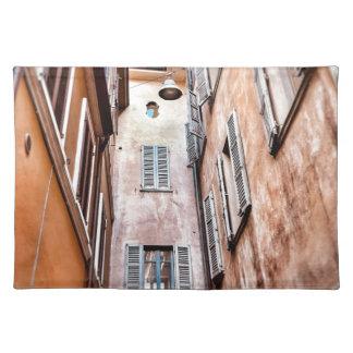 Stadt-Szene des Italiener-IMG_1785 2 Tischset
