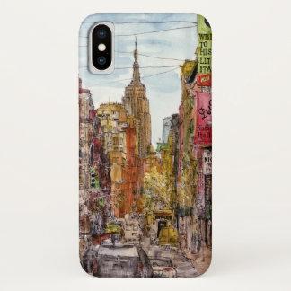 Stadt-Szene II iPhone X Hülle