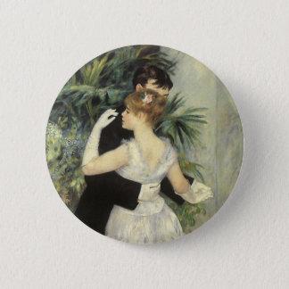 Stadt-Tanz durch Pierre Renoir, Vintage feine Runder Button 5,7 Cm