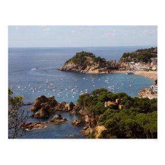 Stadt TOSSA Des MÄRZ gelegen in der Costa Brava. Postkarte