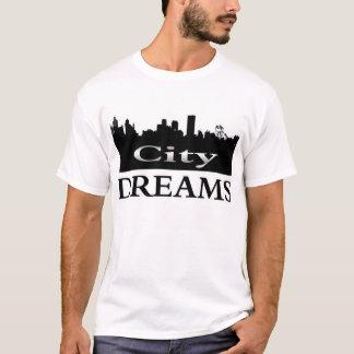 Stadt träumt T - Shirtchrombuchstaben T-Shirt