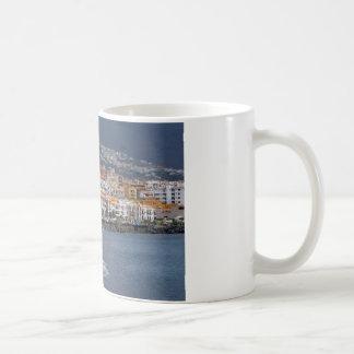 Stadt und Strand von Candelaria bei Teneriffa Kaffeetasse